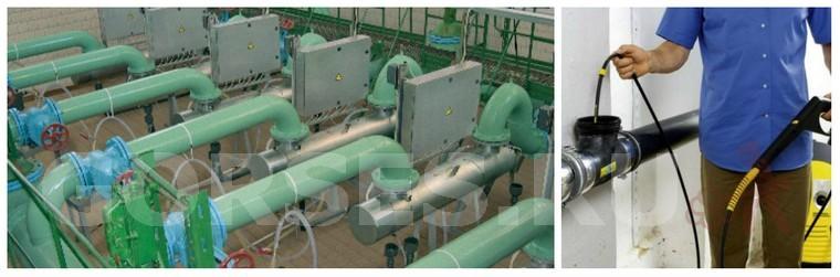 промывка труб водоснабжения